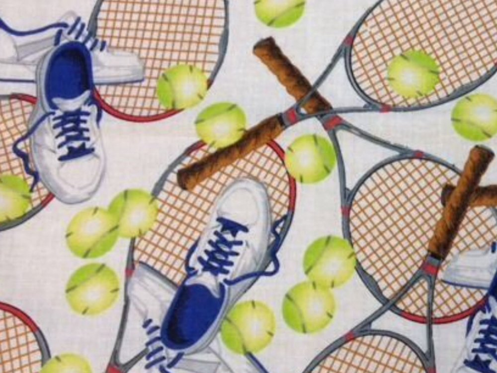 Tennis Game Sports Tennis Ball Games Cotton Fabric Quilt Fabric MD13