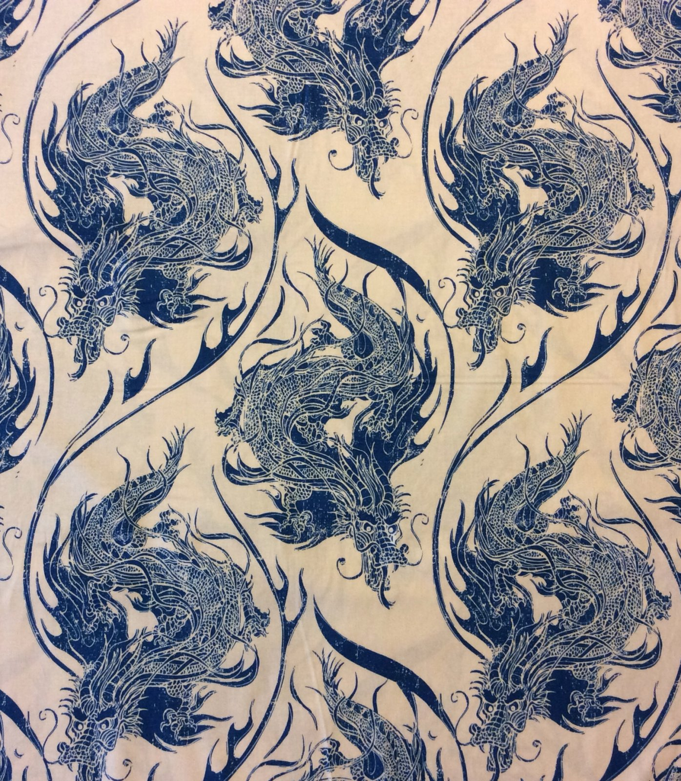 Asia Azure Dragon Fire Mythology China Japan Zodiac Cotton ... : dragon fabric for quilting - Adamdwight.com