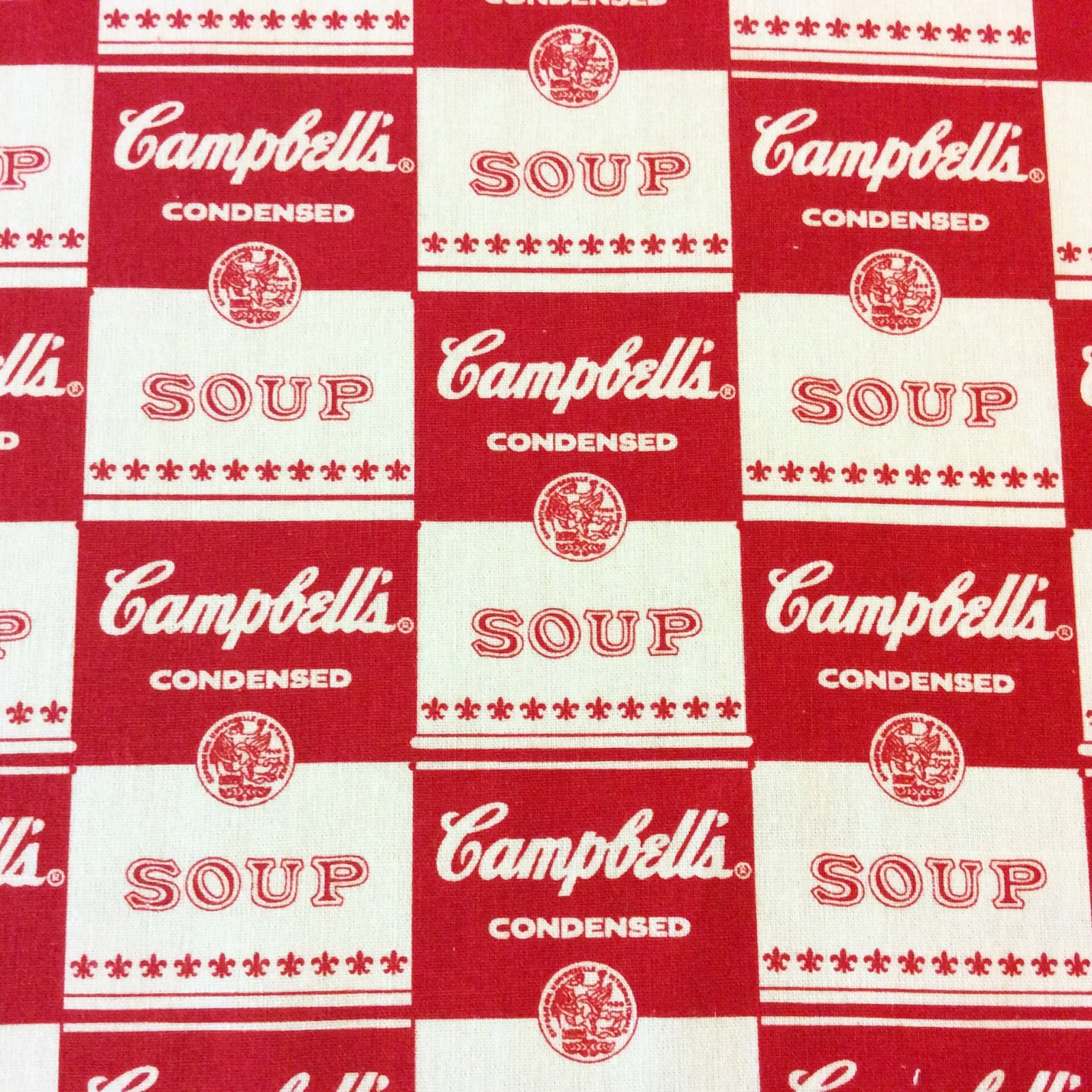 MD314 Campbell's Soup Food Retro Andy Warhol Pop Art America Cotton Quilt Fabric