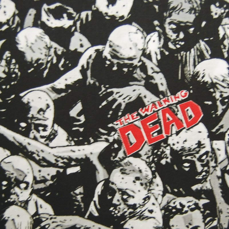 Out of Print! Last Piece! Zombie The Walking Dead Zombie Crafting By the Yard Cotton Fabric Quilt Fabric PCMD49