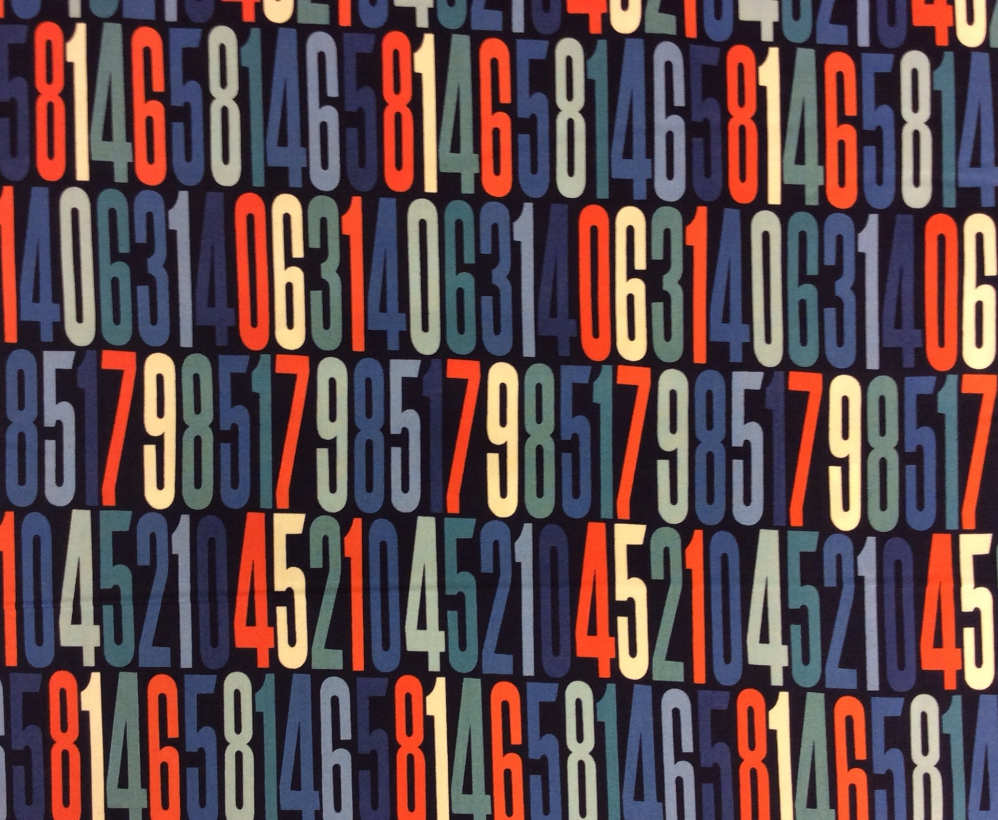 MD98 Secret Code Computer Numbers Math Decimal Random Cotton Quilting Fabric