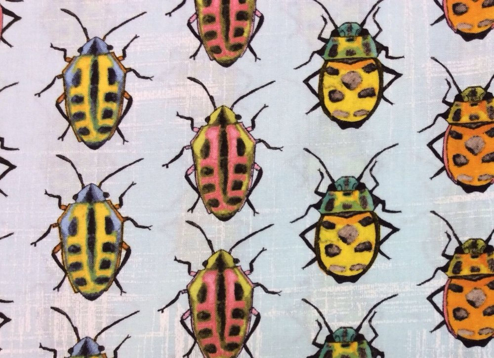 Bugs Beetles Crawlers Colorful Dots Cotton Fabric Quilt Fabric MM35