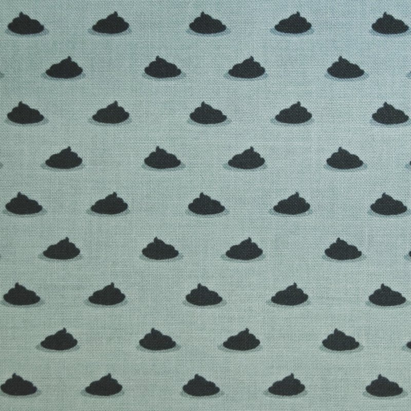 Pugs Puppies Poo Poo Dots Dog Poop Dots Craft Quilting Cotton Quilt Fabric MM49