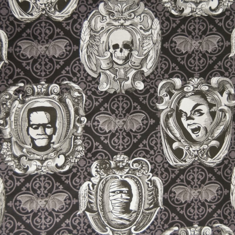 HALLOWEEN : tattoo quilt fabric - Adamdwight.com