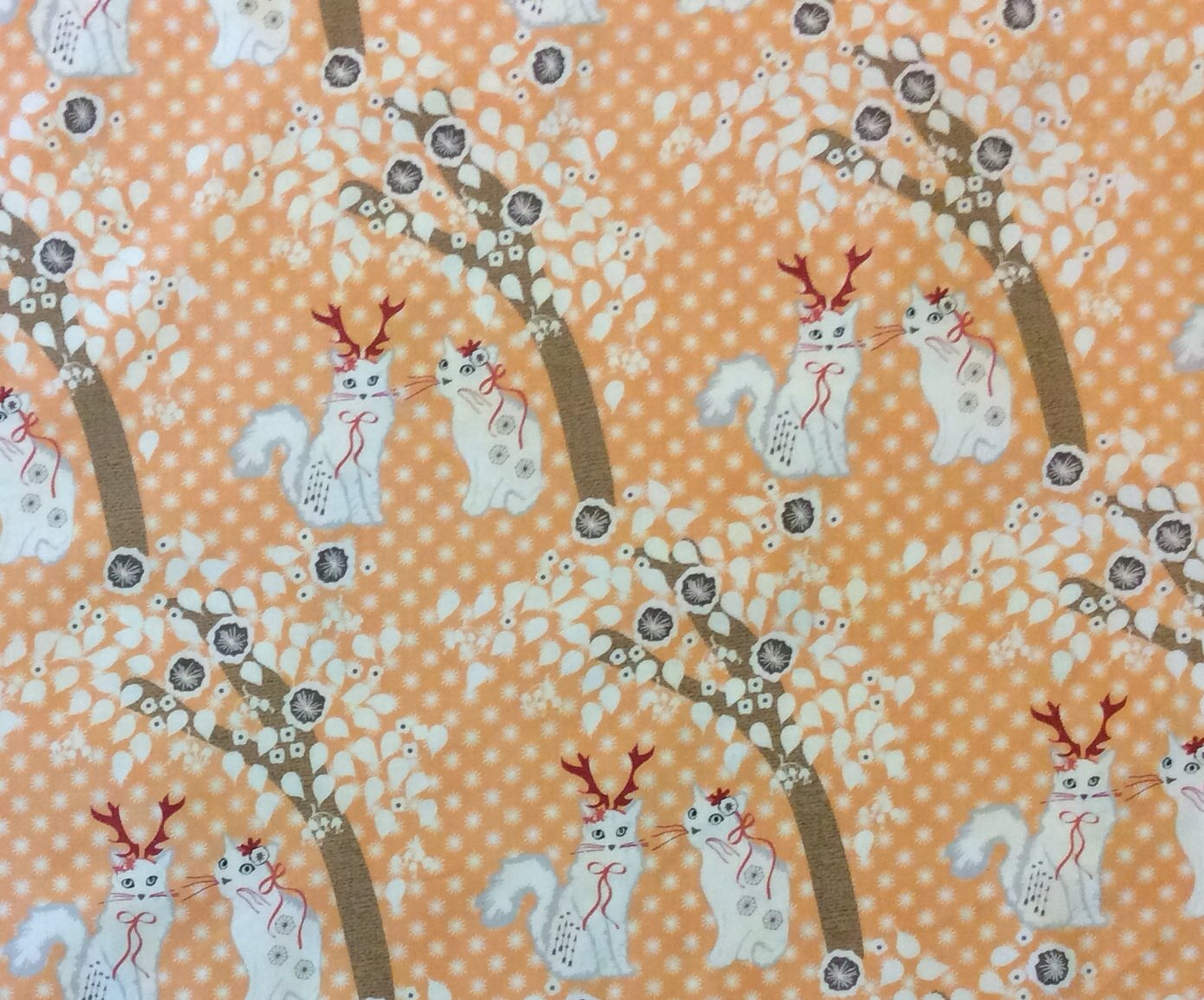 MM76 Cats Deer Antler Asian Cute Spring Winter Cute Quilting Cotton Fabric