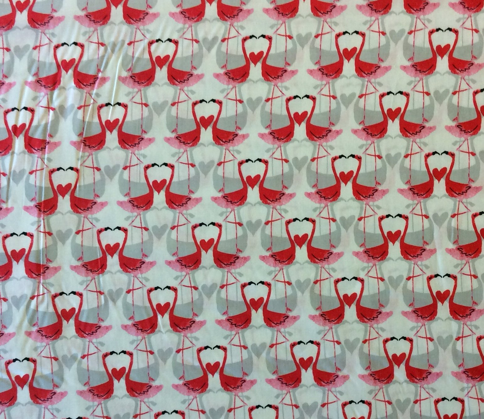 MM79 Flamingos Love Birds Couple Amour Forever Pretty Quilting Cotton Fabric