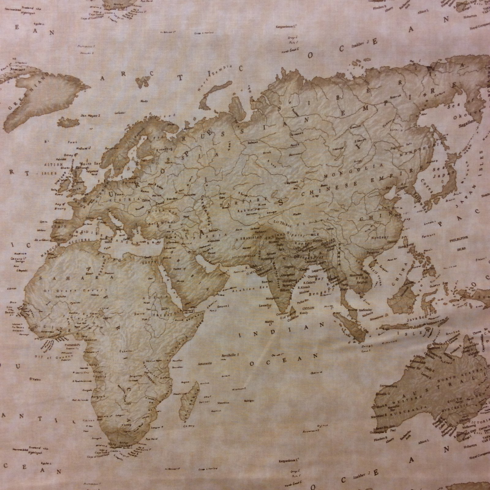 Mo09 moda sepia map of the world atlas continent quilt cotton mo09 moda sepia map of the world atlas continent quilt cotton quilting fabric gumiabroncs Images
