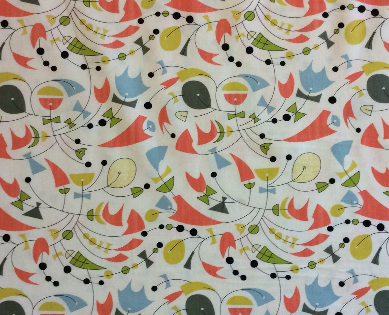 Atomic Mid Century Modern Moda Mobile Retro Boomerang Art 50s Style Cotton Quilting Fabric  MO27