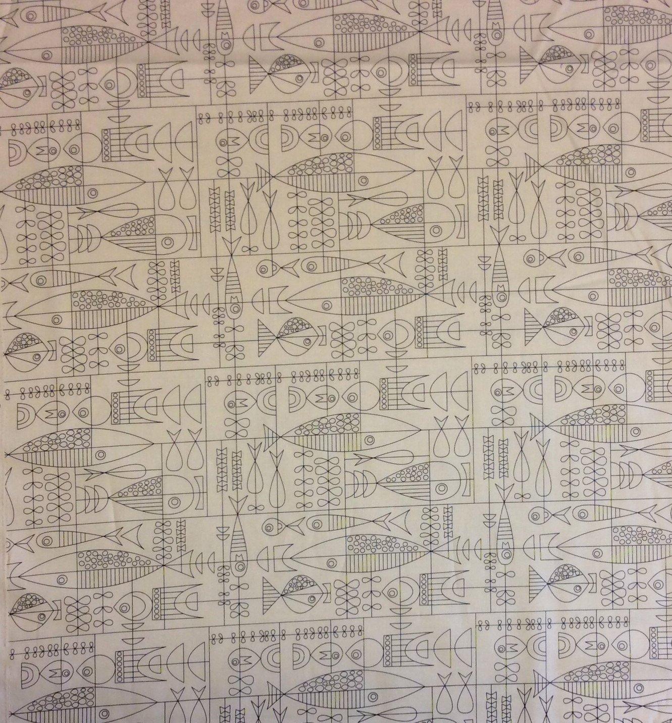 Atomic Mid Century Modern Moda Mobile Retro Boomerang Art 50s Style Cotton Quilting Fabric  MO31