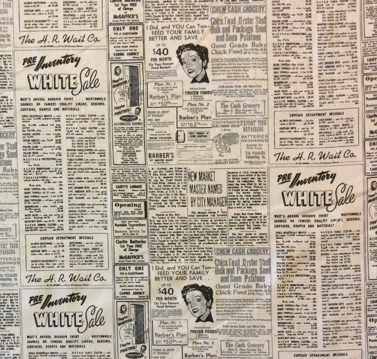 Newspaper coupons for sale