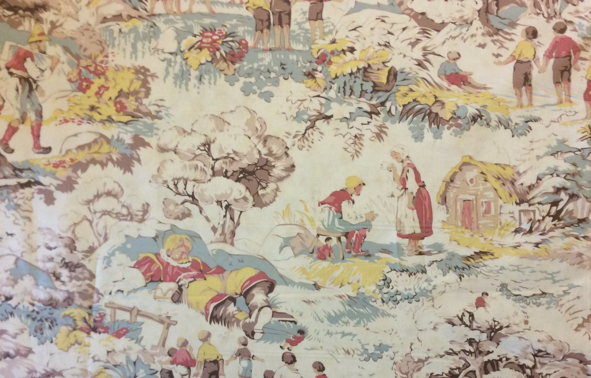 MO41 Giants Man Toile Fantasy Medieval Fairy Tale Story Quilting Cotton Fabric
