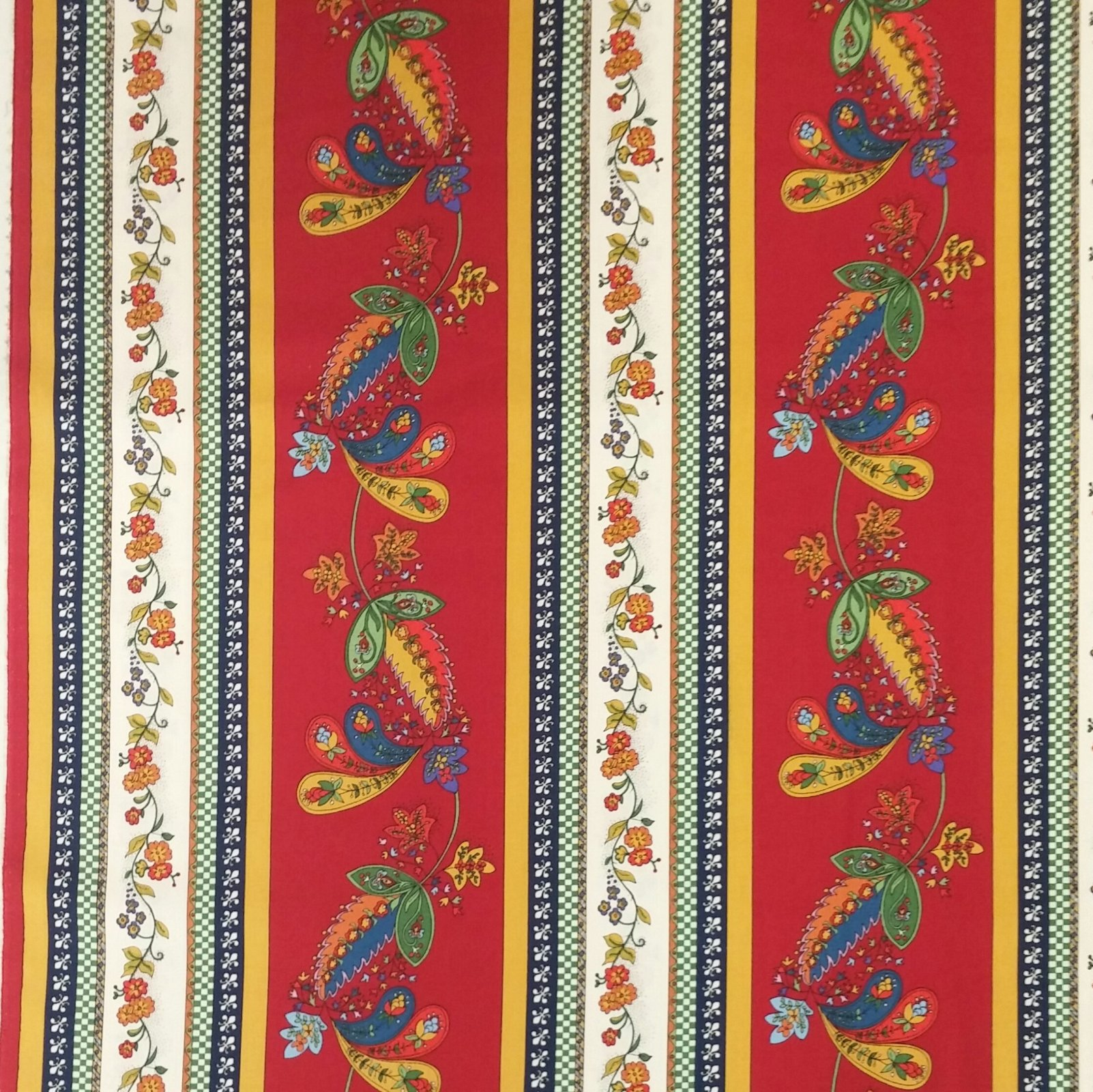 Provincial French Floral Paisley Provence France Style Kitchen Stripe Cotton Quiilt Fabric Mo51