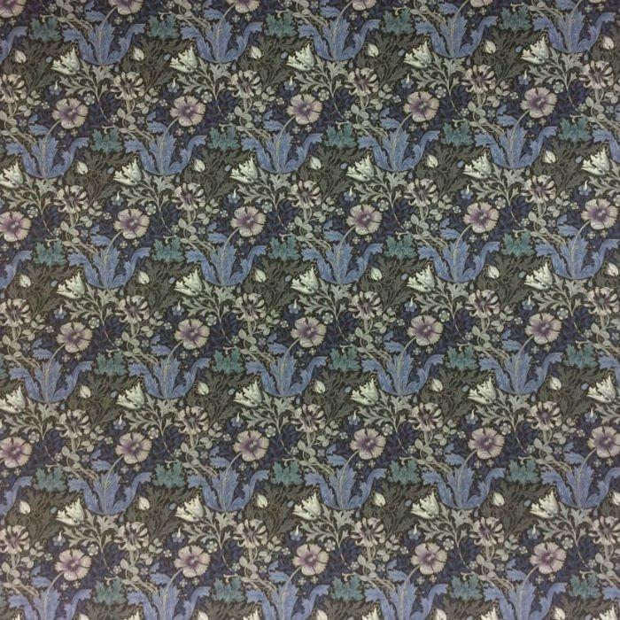 Rare! Fat Quarter Piece Barbara Brackman Moda Morris Earthly Paradise Indigo Cotton Quilting Fabric MO67