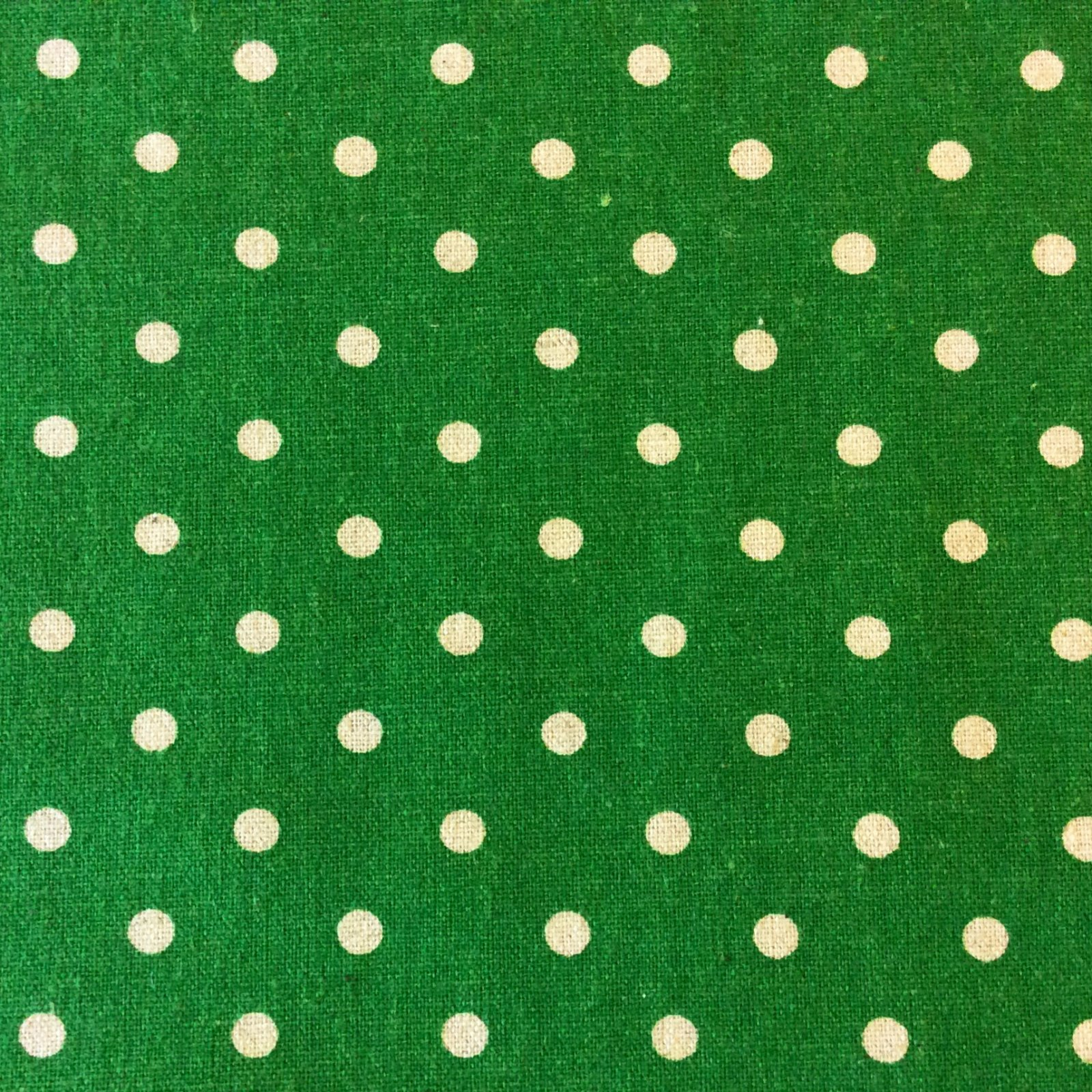 Moda Mochi Polka Dot Green White Spot Dot Geo Linen Cotton Quilt Fabric MO82