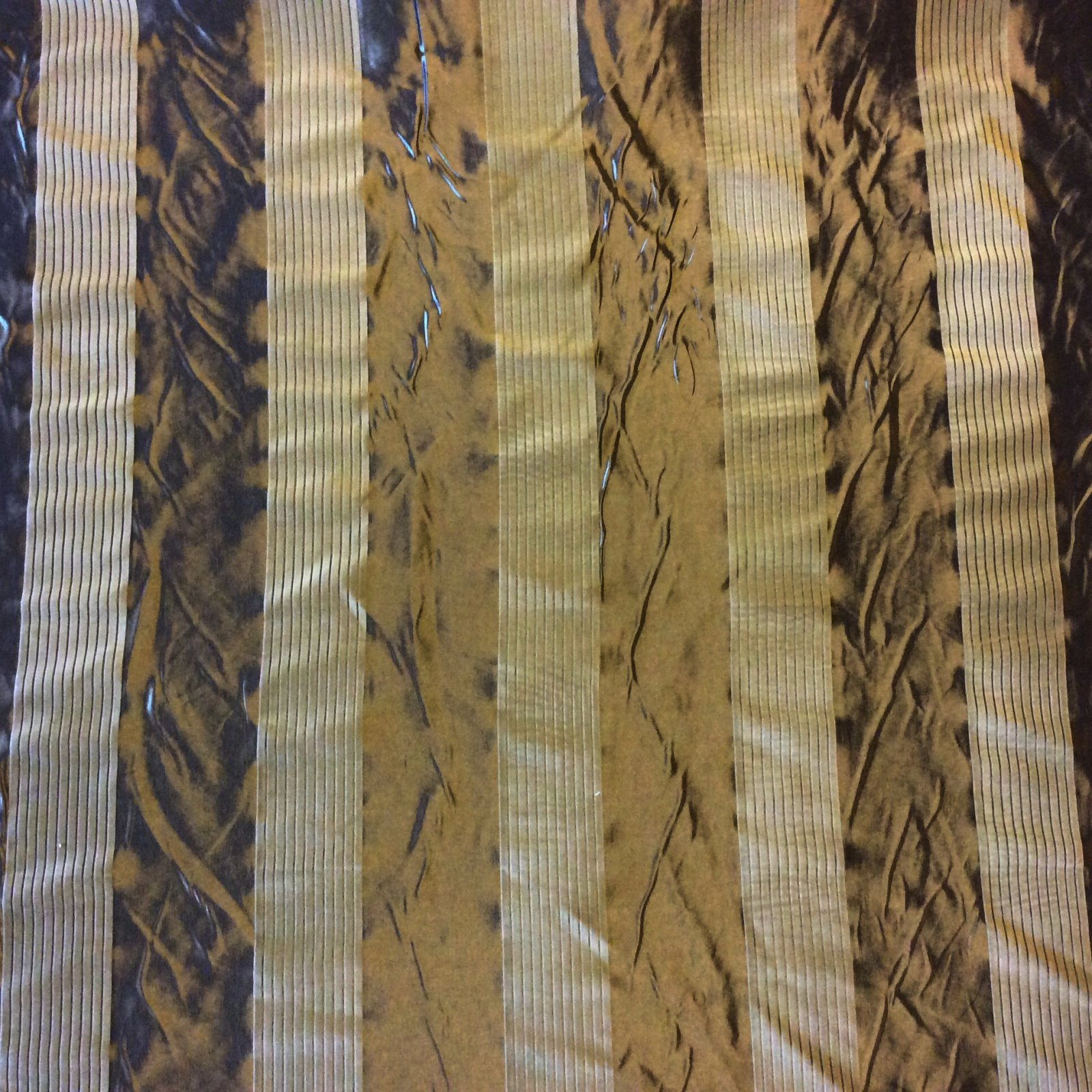NL077 Beacon Hill Flocked Metallic Green Striped Geometric Geo Velvet & Faux Silk Home Decor Fabric