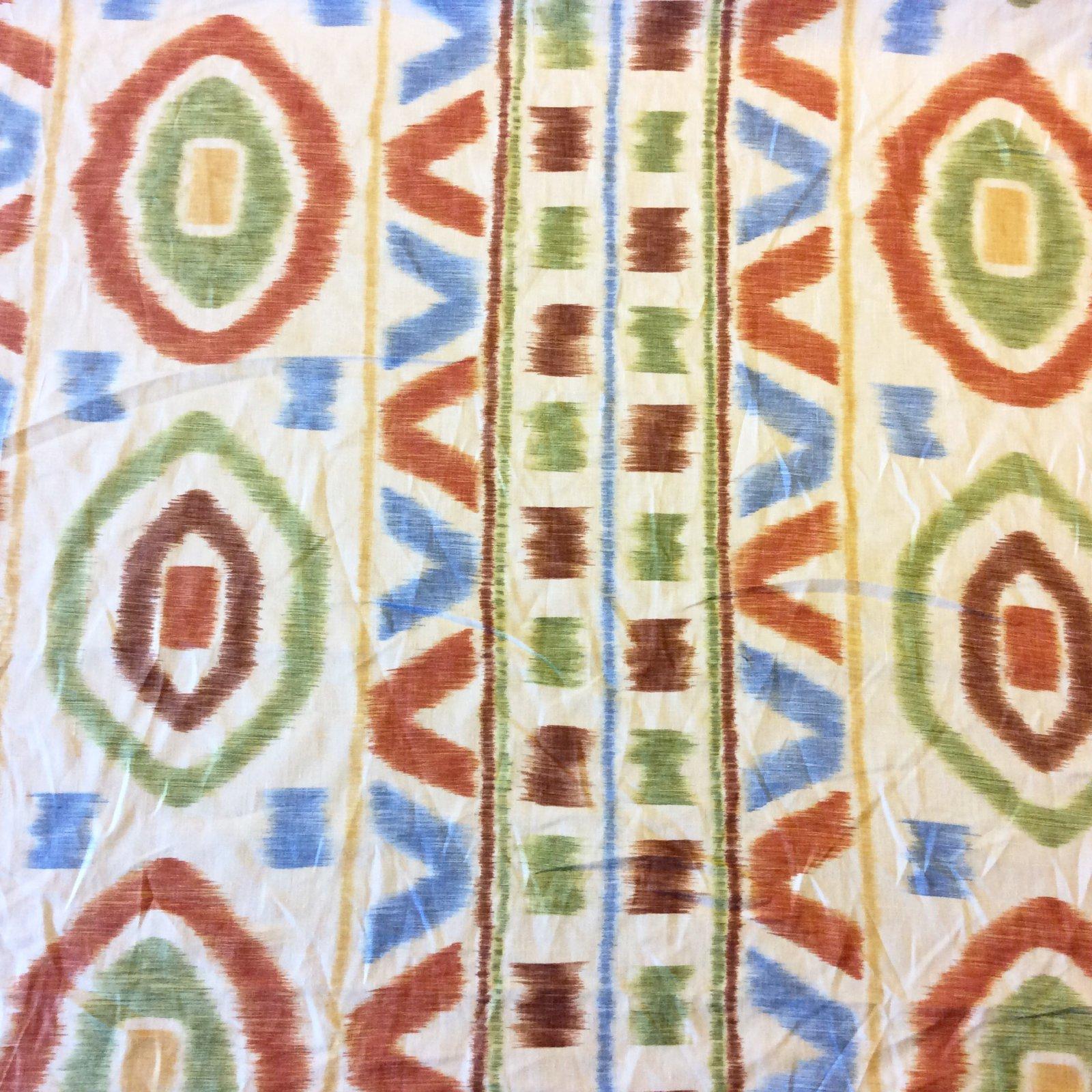 NL216 Thom Felicia Kravet Tribal Ikat Drapery Linen Upholstery Home Decor Fabric
