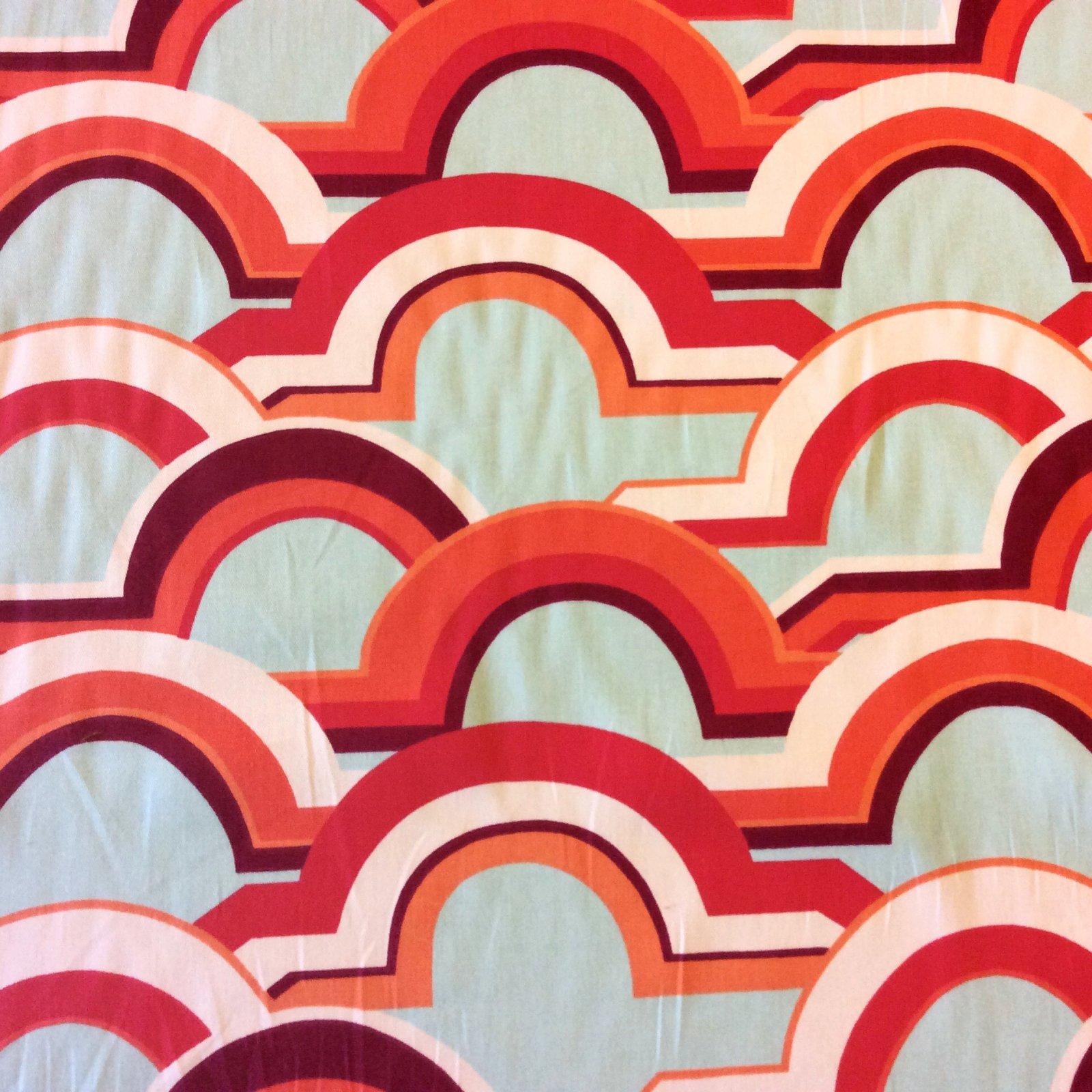 Eden Roc Retro Modern Geometric Arches Heavy Weight Cotton Drapery Fabric NL248