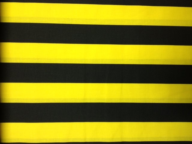 Yellow and Black Vertical Steelers Pride! Stripes Bumble Bee Cotton ...