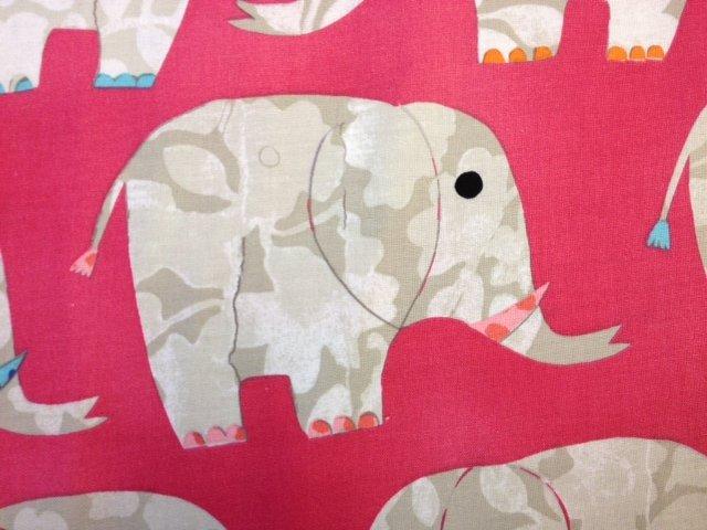 Elephants Cute Animal Happy Elephants Bright Neon Colors Illustration Cotton Fabric Quilting Fabric CR279