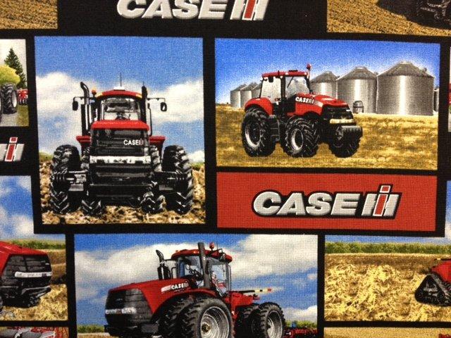 Case International Harvester  Tractor Truck Farm Farmers Cotton Fabric Quilt Fabric CR274