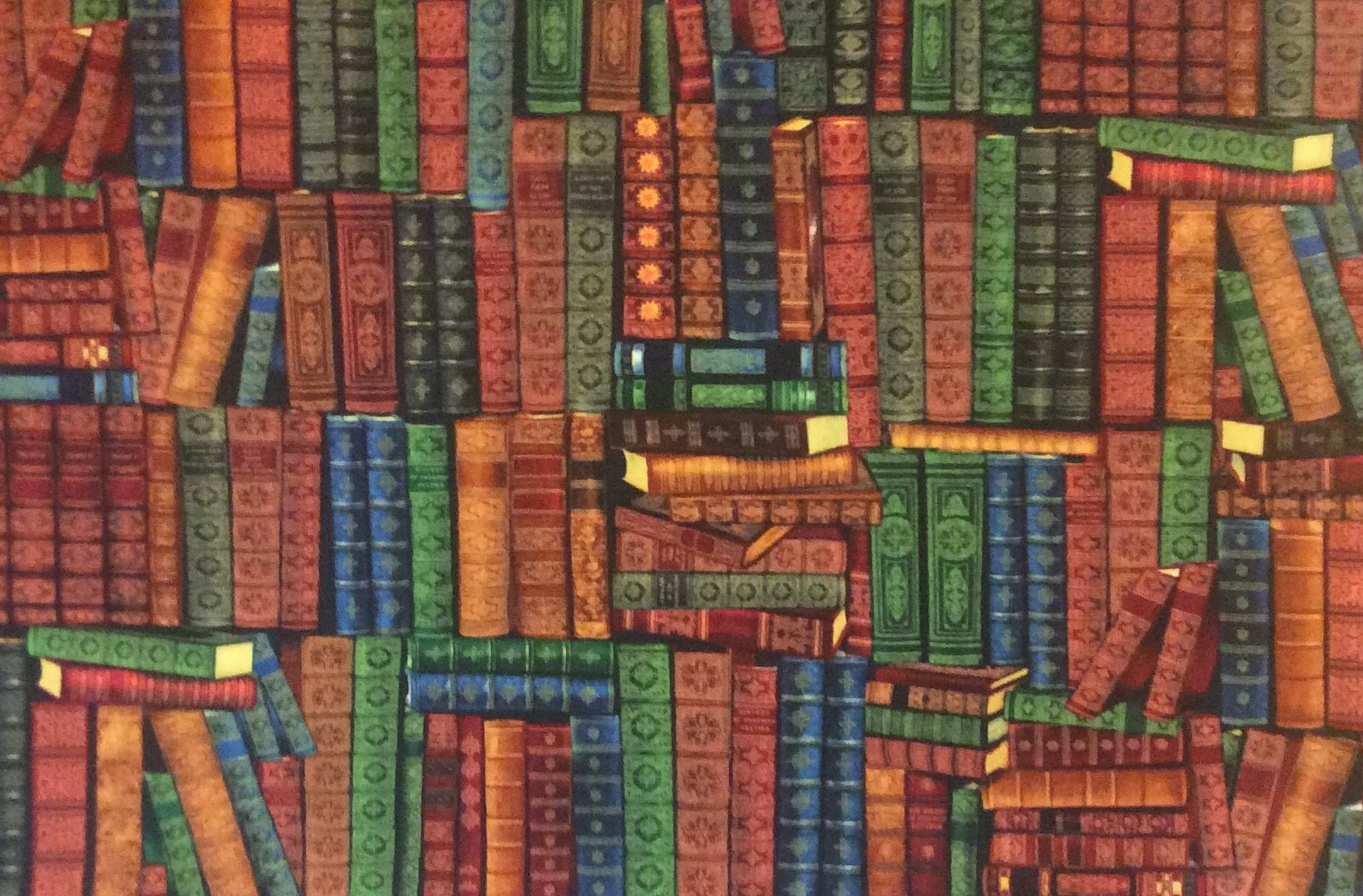 NT10 Library Books Knowledge Read School University Quilting Cotton Fabric