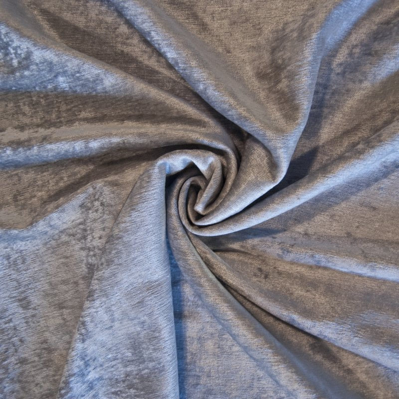 Z OR121 Silver Gray Antique Velvet By the Yard Upholstery Home Decor Fabric