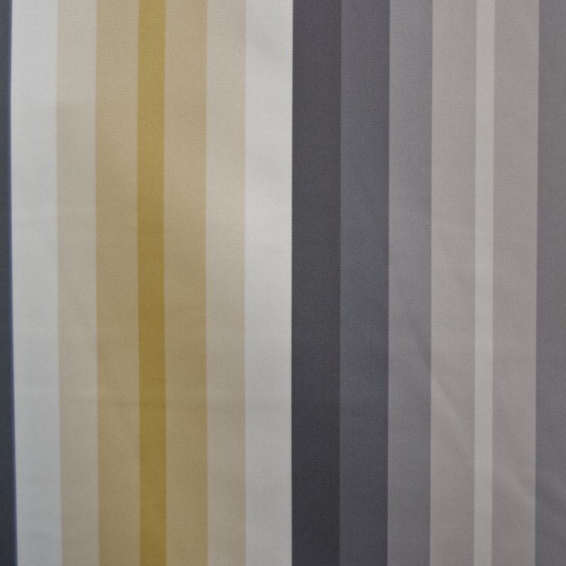 OR123 Geometric Stripe Yellow and Gray By the Yard Upholstery Home Decor Fabric