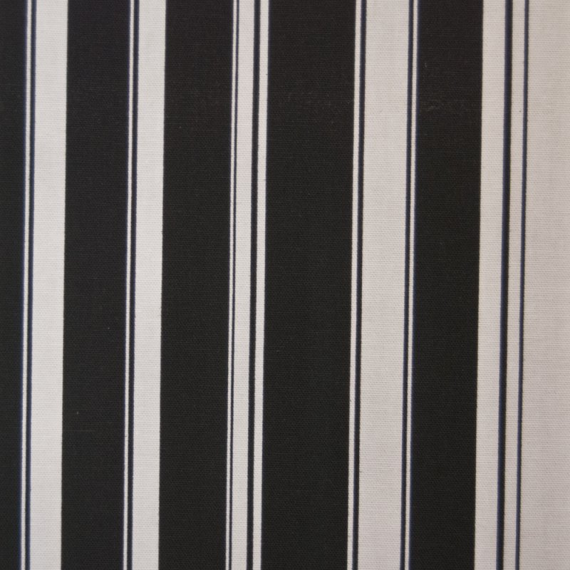 OR128 Black and White Nautical Stripe By the Yard Drapery Home Decor Fabric