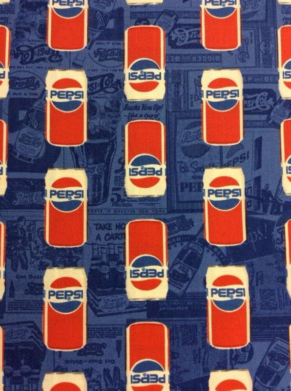 Pepsi Cola Retro Logo Pop Soda Throw Back Cotton Fabric Quilt Fabric CA07