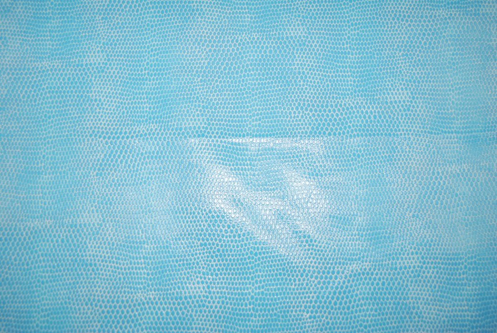 Turquoise Blue Snake Skin Outburst Vinyl Home Dec Upholstery Animal Print Fabric LDSO520 / NR