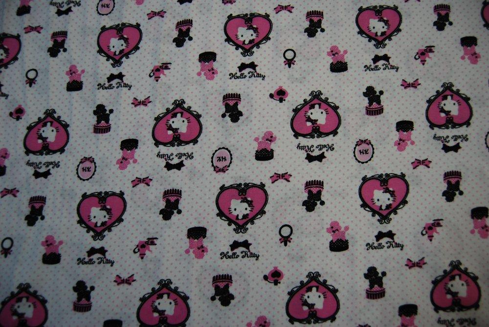 Hello Kitty Stretch Knit Cotton 60'' wide apparel Japan Cute Kawaii Kids Cotton Fabric CR147