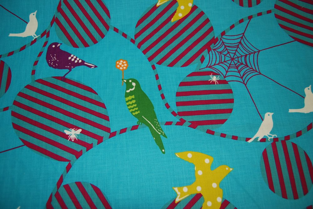 Echino Kokka Etsuko Furuya Bird Bee Spider Web Japan Canvas Weight Cotton Fabric EK16