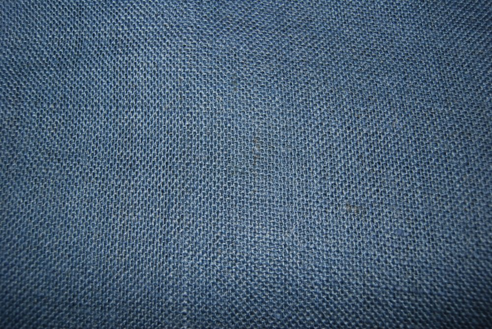 Burlap Navy Woven French Country Burlap Fabric  LHD136J