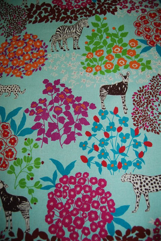 Echino Kokka Jungle Lion Animal Etsuko  Furuya Asian Japan Cotton Linen Fabric CR135