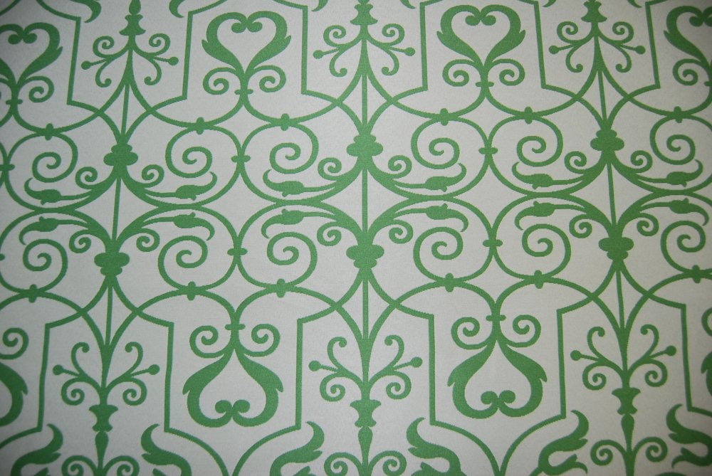 Trellis Swirl Lattice Reversible Green Le Lime Ivory Drapery Fabric Lhd160 C