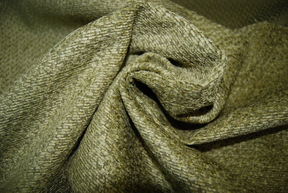 Genesis Textured Chenille  Heavy Weight Upholstery Sage Green Moss Upholstery Weight Fabric LHD153-C