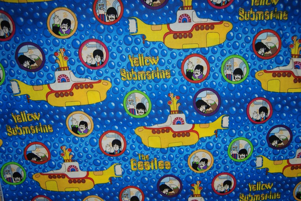 The Beatles Yellow Submarine Rock and Roll Music Cotton Quilting Fabric E01