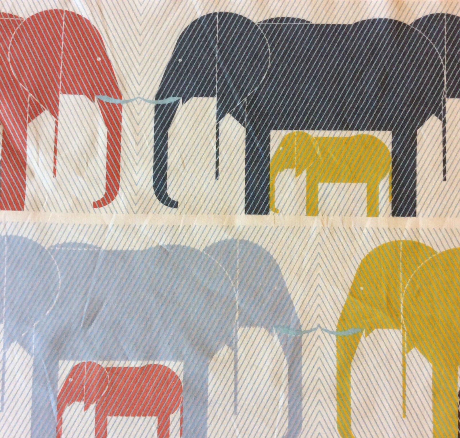 Charley Harper Charley Harper Elephant Zoo Baby Animal Organic ... : organic cotton quilt fabric - Adamdwight.com