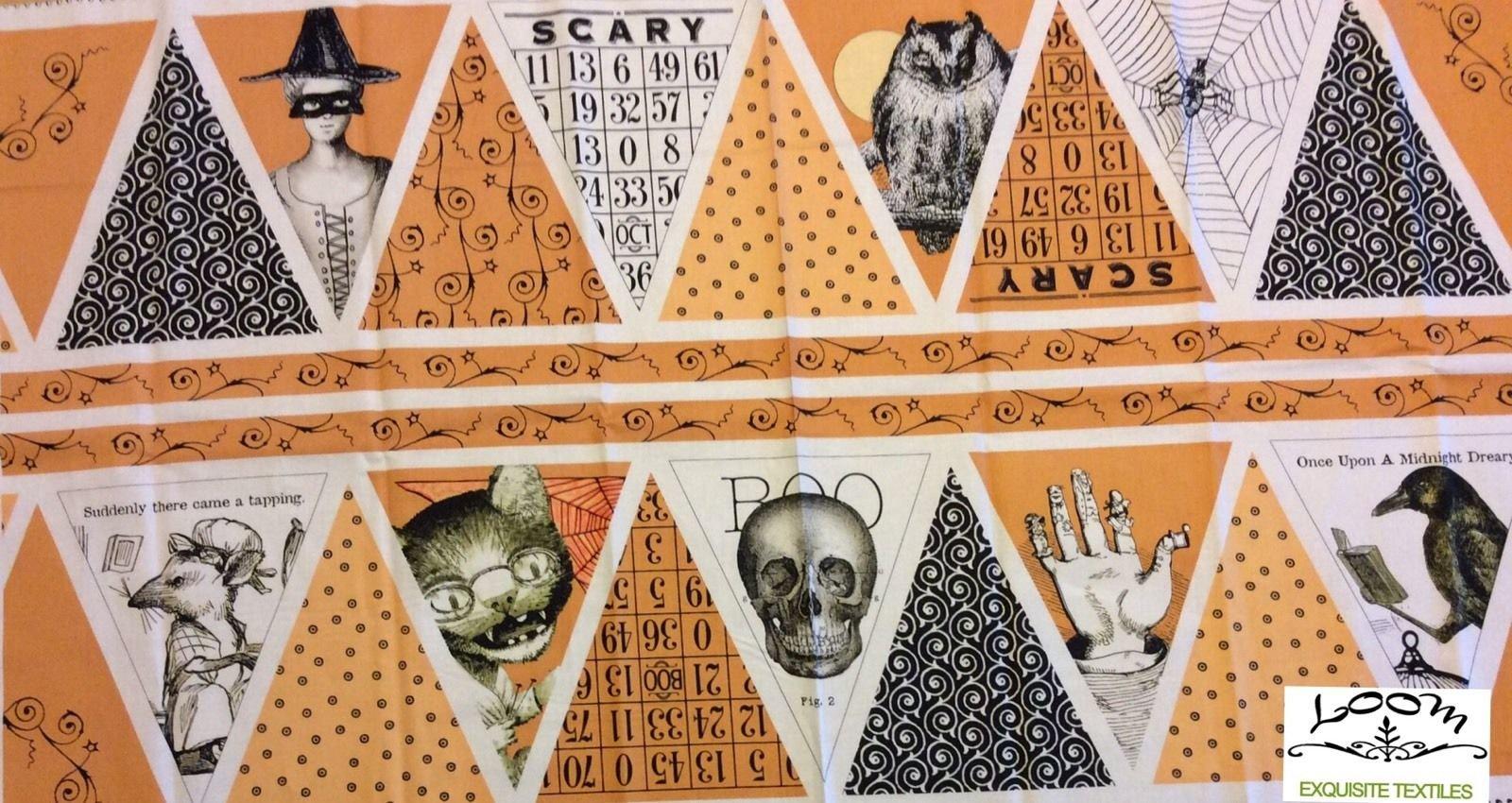 Sew Scary Halloween Goth Skull Poe Raven Cat Diy Banner