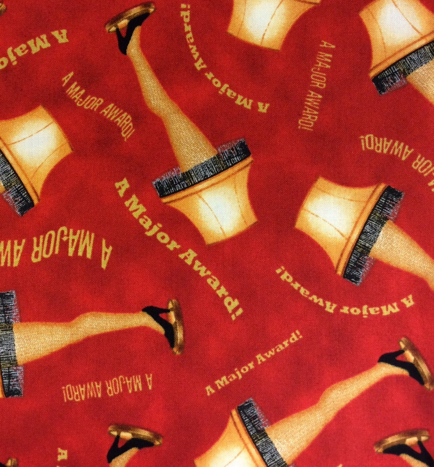 QT36 A Christmas Story Major Award Leg Lamp Holiday Movie Cotton Quilting Fabric