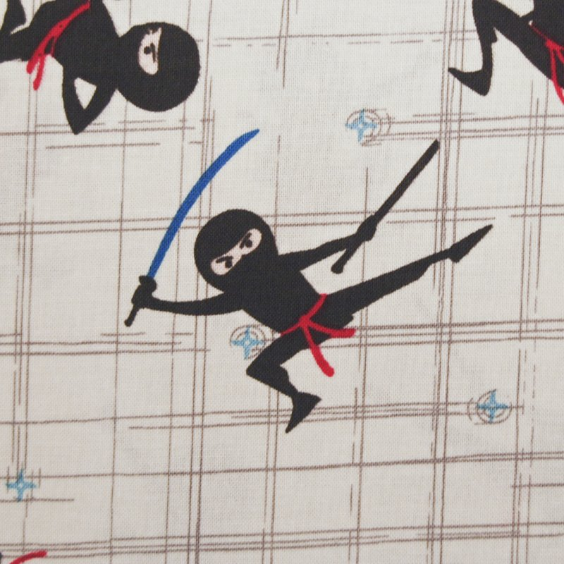 Fat Quarter! Fighting Ninja Sword Asian Crafting By the Yard Cotton Fabric Quilt Fabric FQRB32