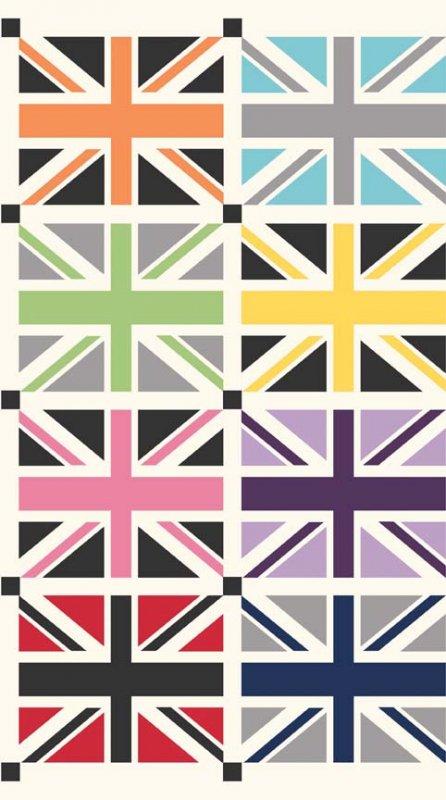 Union Jack Panel British UK London Flag Mini Flag Panel Cotton Quilt Fabric PNL86 RB34