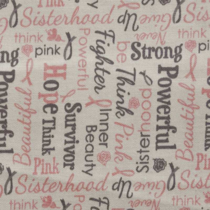Rb38 Think Pink Breast Cancer Awareness Sisterhood Quilting