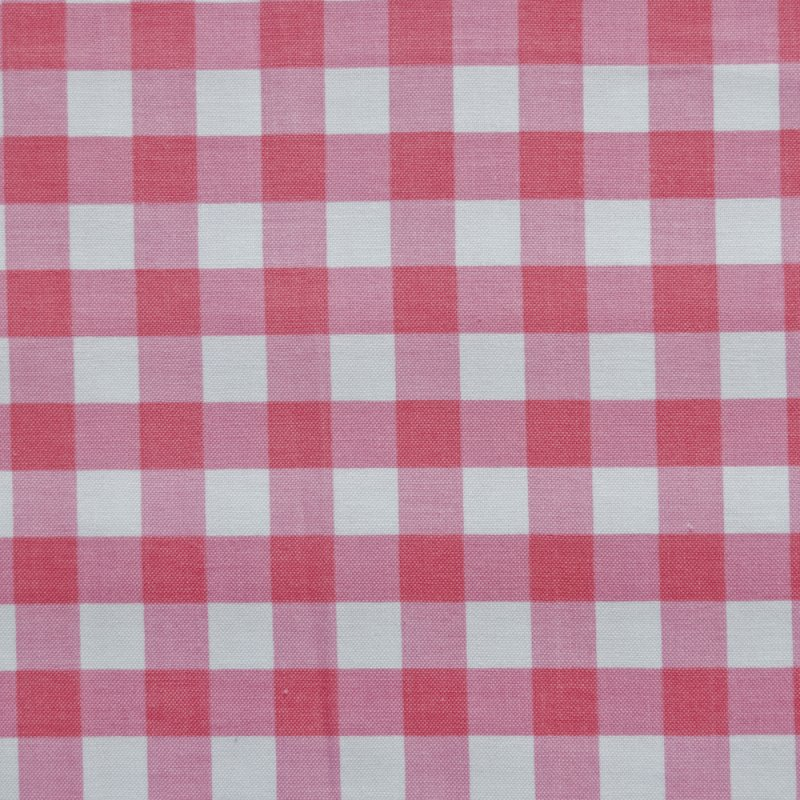 RB39 Large Hot Pink Gingham Picnic By the Yard Quilting Cotton Quilt Fabric