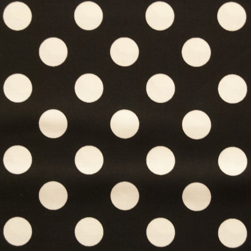 RB41 Black and White Polka Dots By the Yard Quilting Cotton Quilt Fabric