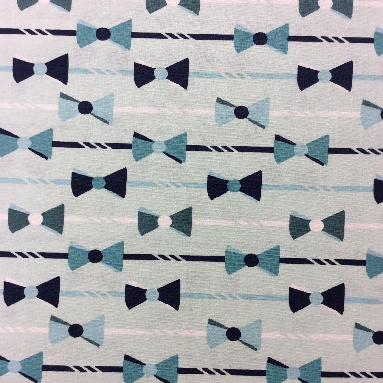 Riley Blake Seafoam Green Dapper Bow Ties Bowtie Preppy Quilt Cotton Quilting Fabric RB57