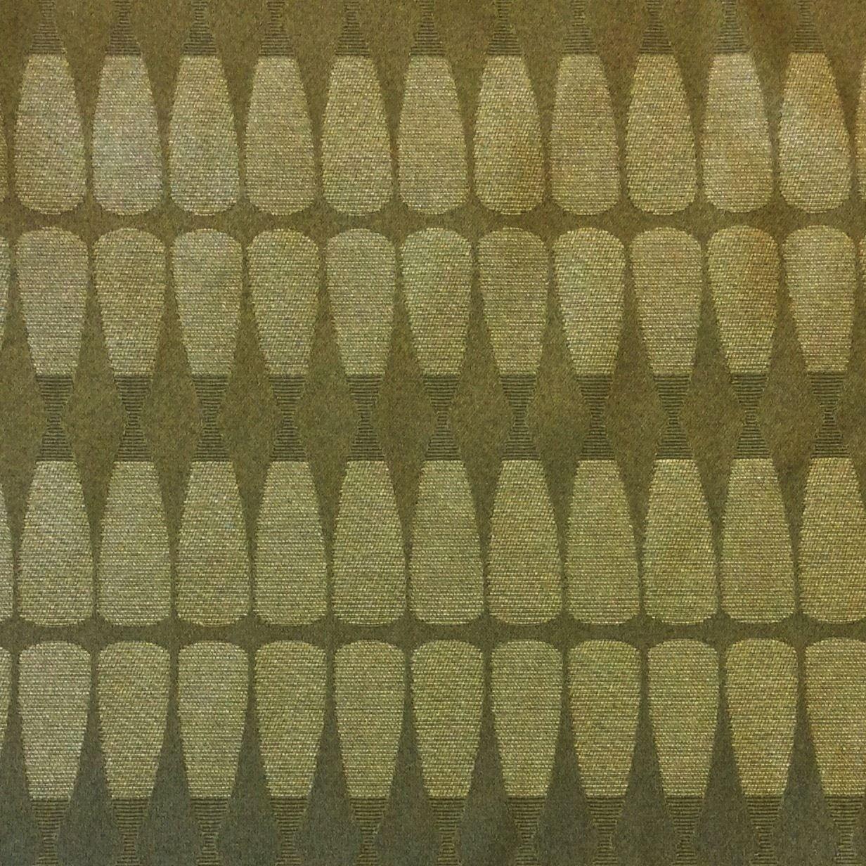 Maharam Retro Modern Olive Green Diamond Jacquard Design Cotton