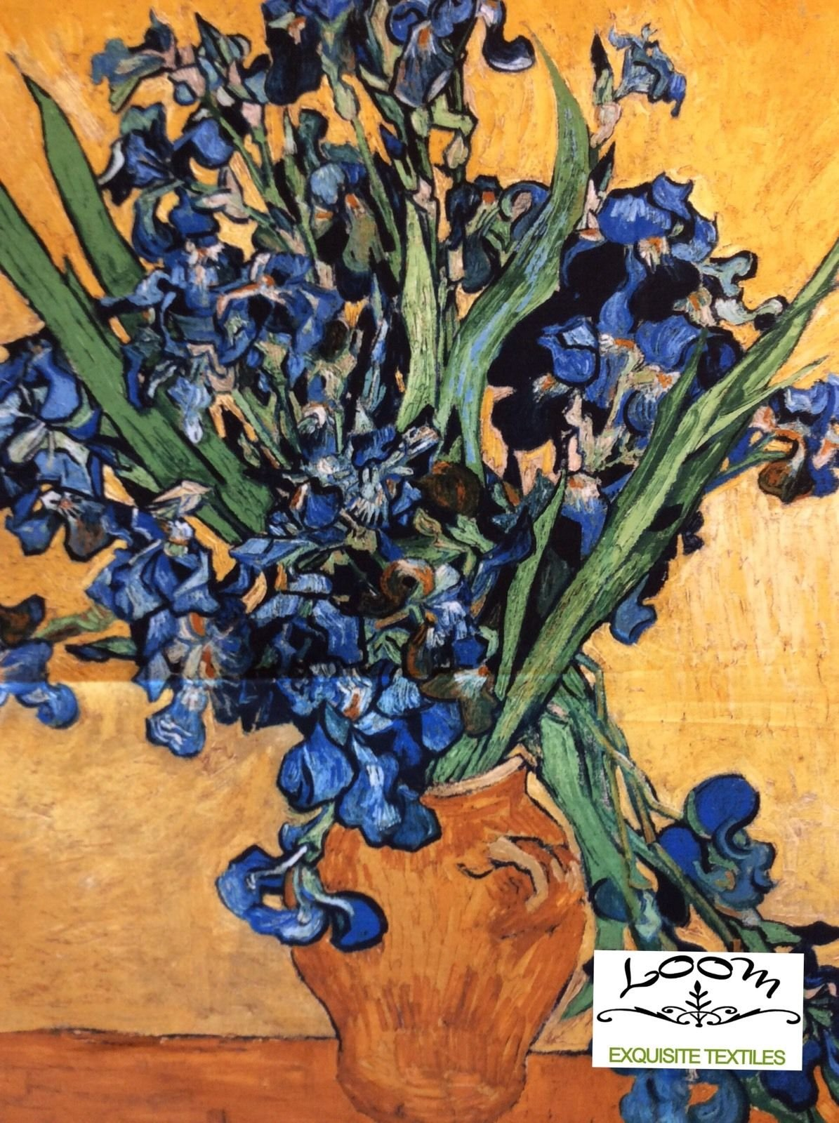 Vincent Van Gogh Iris Impressionist Painting PANEL Cotton Quilting Fabric RK108 PNL164