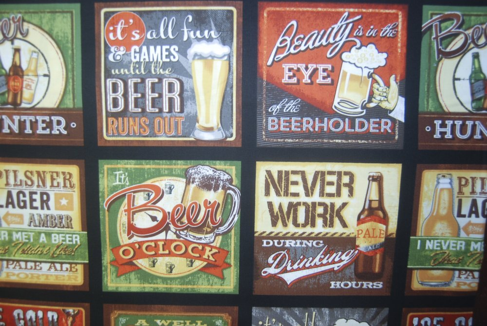 RK75 Beer Cheers Beerholder Ice Cold Octoberfest Quilting Cotton Quilt Fabric