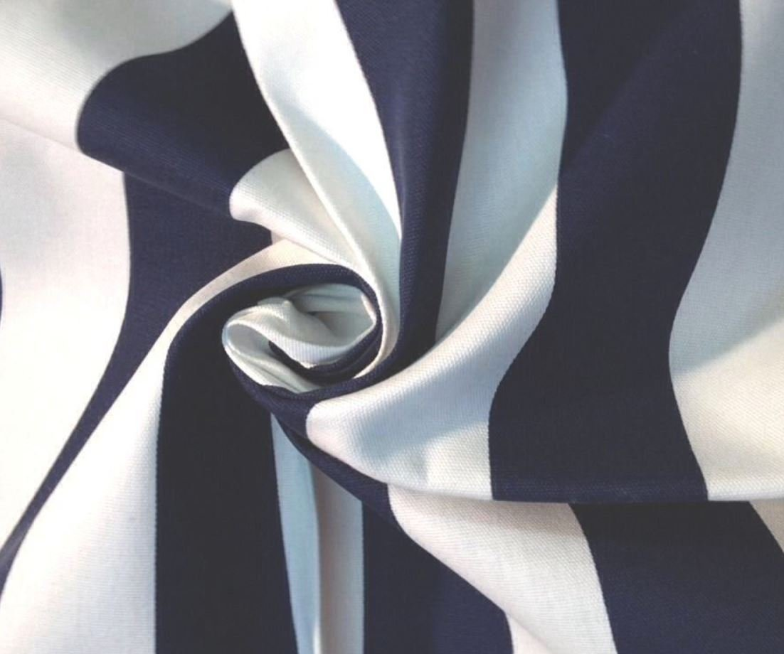 Classic Awning Stripe French Royal Navy Awning Stripe Sun Famous Maker Modern Soft Outdoor Fabric S04